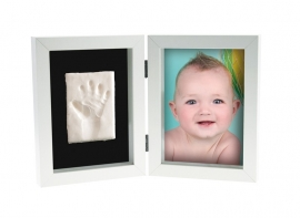Kit Amprenta bebelus 2D 'My First Print of Frame', Kidzzcast - Culoare - Alb