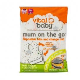 Kit Mum On The Go (3 bavete+1 saltea de infasat)