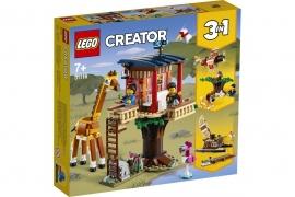 LEGO® CREATOR CASUTA IN COPAC CU ANIMALE SALBATICE IN 31116