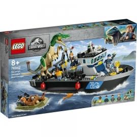 LEGO® JURASSIC WORLD EVADAREA CU BARCA A DINOZAURULUI BARYONYX