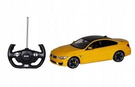 MASINA CU TELECOMANDA BMW M4 GALBEN CU SCARA 1 LA 14