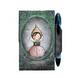 Mini agenda cu magnet si pix Eclectic The Pursuit of Happiness