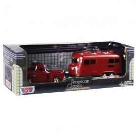 Minimodel Motormax 1:43 Die Cast Car & Trailer Set
