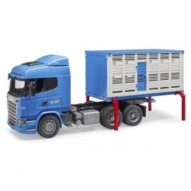 MINIMODELE 1:16 BR8 - Masina SCANIA - container de animale