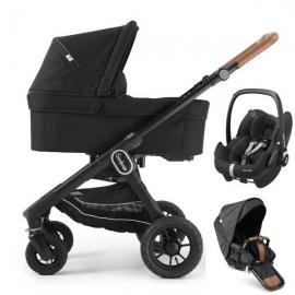 Pachet 3in1 NXT60 FLAT Outdoor Air Emmaljunga Outdoor Eco Black