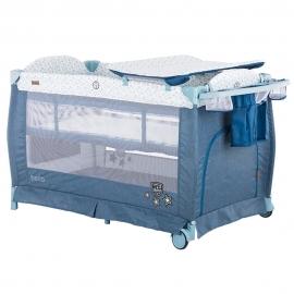 Patut pliabil Chipolino Bella blue linen