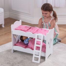 Patut supraetajat pentru papusi Lil' Doll Bunk Bed - Kidkraft