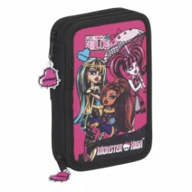 Penar dublu echipat negru Monster High cu 34 piese