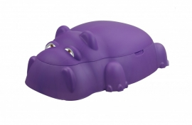 Piscina pentru copii cu capac, culoare Mov - HIPPO POOL WITH COVER PURPLE