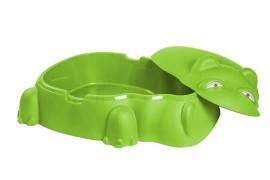Piscina pentru copii cu capac, culoare verde HIPPO POOL - Starplast