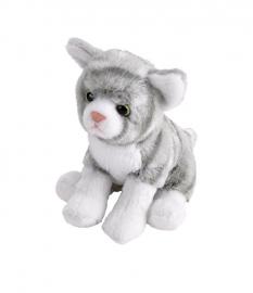 Pisica Vargata Gri - Jucarie Plus Wild Republic 13 cm