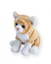 Pisica Vargata Portocalie - Jucarie Plus Wild Republic 13 cm