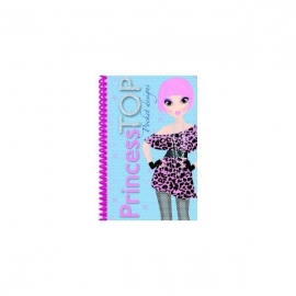 Princess TOP - Pocket designs (bleu)