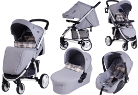 Carucior M21 sistem 3 in 1 - Carello SQUARE JEANS
