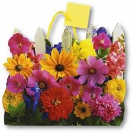 Punga de hartie-Gard cu flori