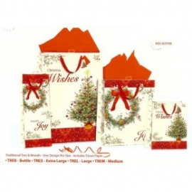 Punga de iarna - Brad traditional & Ornament L