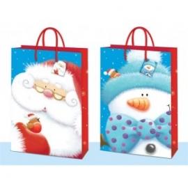 Punga pentru cadou cu tematica de iarna foarte mare