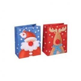 Punga pentru cadou de iarna cu nas sonor Santa si Reindeer