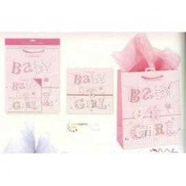 Punga pentru cadou nou-nascut fetita - set 5 in 1