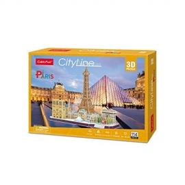 Puzzle 3D - City Line Paris - 114 piese