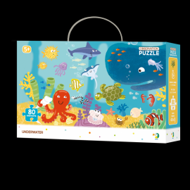 Puzzle - Animalute marine (80 piese)