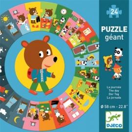 Puzzle cicular Djeco, ziua