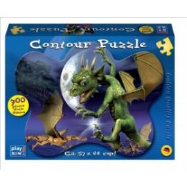 Puzzle contur 700 piese Dragon