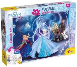 Puzzle de colorat - Frozen (24 piese)