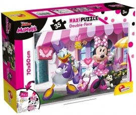 Puzzle de colorat maxi - Minnie si Daisy la cumparaturi (35 piese)