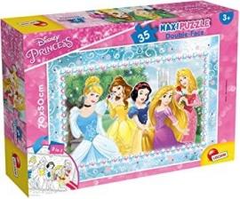 Puzzle de colorat maxi - Printese minunate (35 piese)
