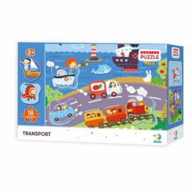 Puzzle - Descoperim vehiculele (18 piese)