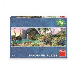 Puzzle - Dinozauri langa lac (150 piese)