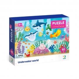Puzzle - Distractie cu animalute marine ( 60 piese)