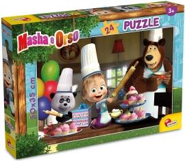 Puzzle - Distractie in bucatarie cu Masha si Ursul (24 piese)