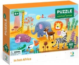 Puzzle - Minunatele animalute din Africa ( 60 piese)
