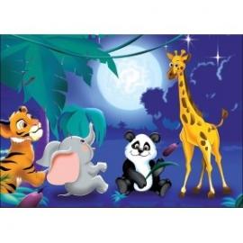 Puzzle pentru copii 60 piese Patru prieteni