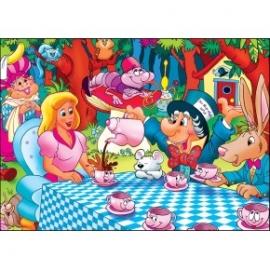 Puzzle pentru copii 99 piese Alice in tara minunilor