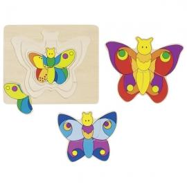 Puzzle stratificat Fluturele
