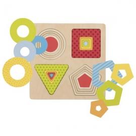 Puzzle stratificat Forme geometrice
