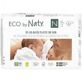 Scutece marimea 0, 25buc, 0-4.5kg, ECO by Naty
