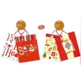 Set 2 pungi pentru cadou cu tematica de iarna