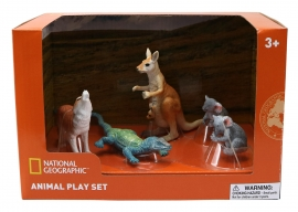 Set 4 figurine - Cangur, Ursi Koala, Soparla, Vulpe