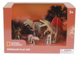 Set 4 figurine - Troodon, Spinosaurus, Tyrannosaurus si Puiul