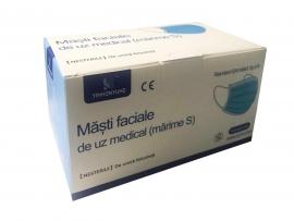 Set 50 masti faciale de uz medical pentru copii (marime S)
