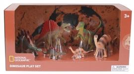 Set 6 figurine - Spinosaurus, Tyrannosaurus, Stegosaurus, Iguanodon