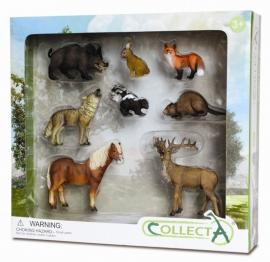 Set 8 figurine Animale din padure - Collecta