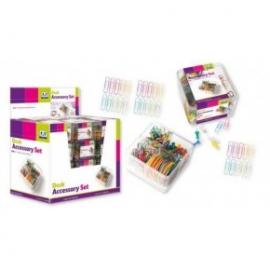 Set accesorii birou:agrafe,elastice,pioneze panou pluta