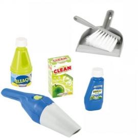Set accesorii pentru curatenie cu aspirator, matura si faras