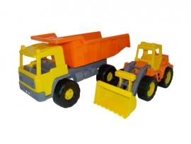Set camion cu buldozer
