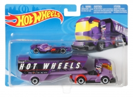 SET CAMION SI MASINA SPORT HOT WHEELS BIG RIG HEAT